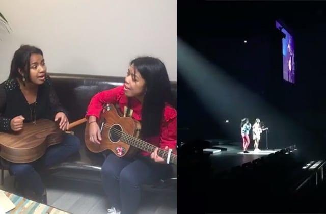 Quand Antsa et Mendrika chantent pour la première fois sur la scène de l'AccorHotels Arena, ça donne ça