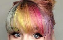 La frange «Rainbang», les couleurs de l'arc-en-ciel sur le devant de ta tête!