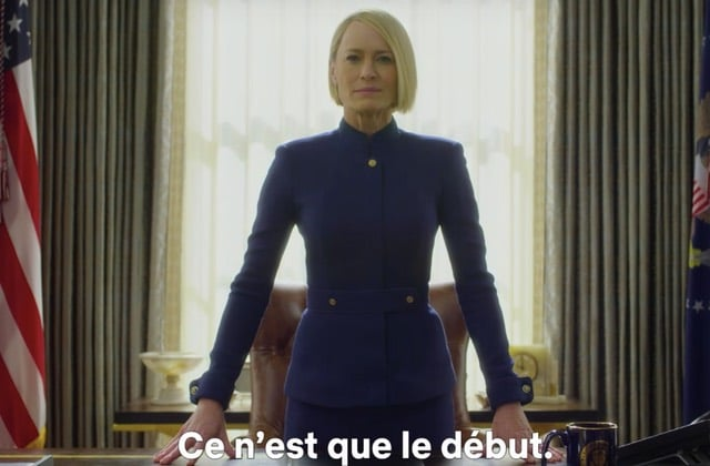 House of Cards saison 6 est #DispoSurNetflix