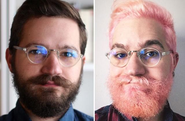 Je me suis teint les cheveux et la barbe en rose, voici pourquoi et comment!