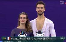 Gabriella Papadakis et Guillaume Cizeron emportent la médaille d'argent en danse sur glace