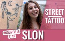 Street Tattoos — SLON (Nouvelle Star) et ses tatouages de femmes et de fleurs