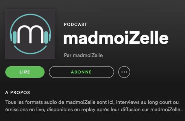 Les podcasts madmoiZelle sont sur Spotify et Deezer!