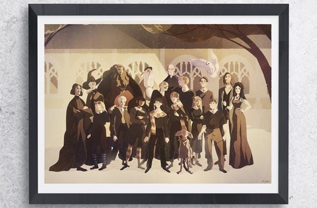Tom Goyon (Tomdapi) immortalise la photo de classe d'Harry Potter et c'est une splendeur !