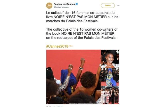 Les 16 co-auteures de «Noire n'est pas mon métier » montent les marches de Cannes le poing levé !