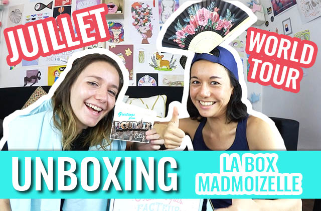 Un unboxing explosif pour la box madmoiZelle de juillet «World Tour»