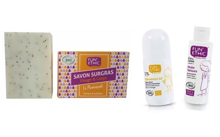 12 produits cosmétiques Fun'Ethic pour ton corps !