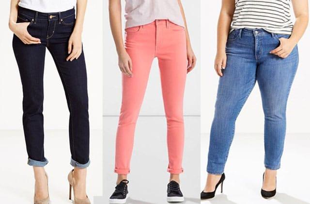 8 jeans Levi's simples, basiques et en promo!