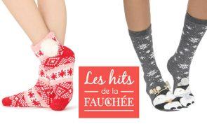 10 chaussettes de Noël ultra cozy pour te pavaner chez toi