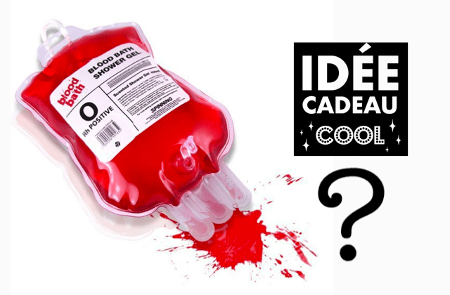 Le gel douche poche de sang : le meilleur ou le pire cadeau de l'année ?