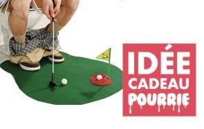 Un mini golf pour passer le temps aux toilettes, une belle idée cadeau pourrie pour Noël