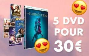 Bon plan du jour : 5 DVD pour 30€ à la FNAC