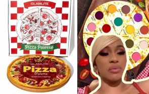 Cardi B se maquille avec la palette qui honore la PIZZA