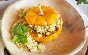 La mini-courge farcie au quinoa et gingembre, une recette aussi chou que bonne