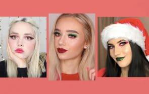4 idées de maquillages ultra-festifs pour Noël