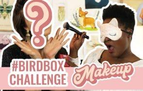 Maquiller une copine avec les yeux bandés c'est pas simple #BirdBoxChallenge