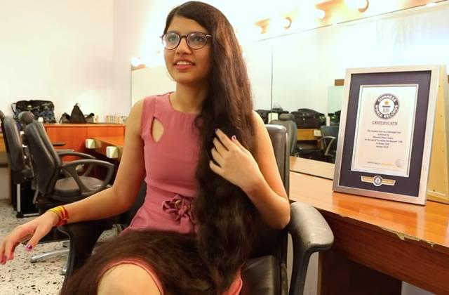 Cette adolescente a les cheveux les plus longs au monde!
