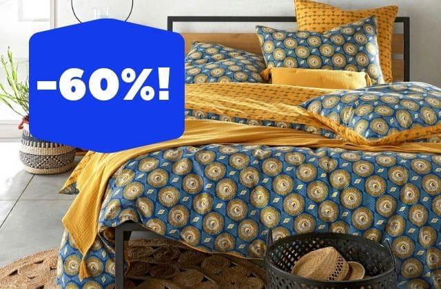 Les soldes linge de lit:jusqu'à -60% sur des housses de couette!