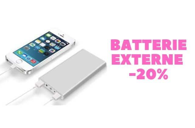 Bon plan du jour : une batterie externe pour tes vacances!