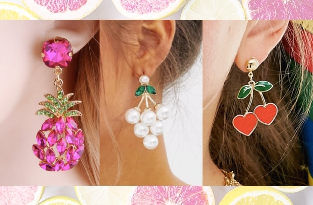 Les plus jolies boucles d'oreilles fruit, tendances cet été