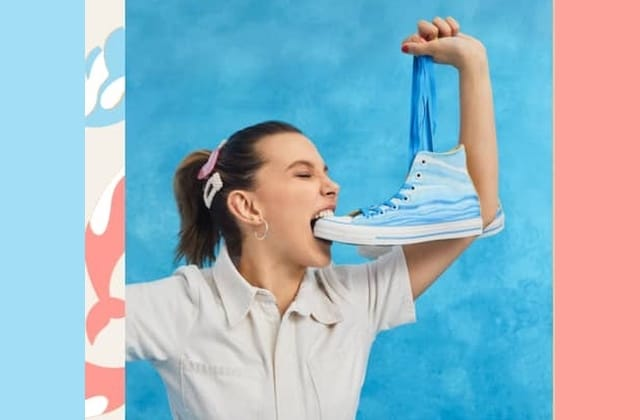 Passion baleine : Millie Bobby Brown collabore avec Converse