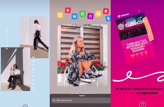 stories Instagram comme les influenceuses