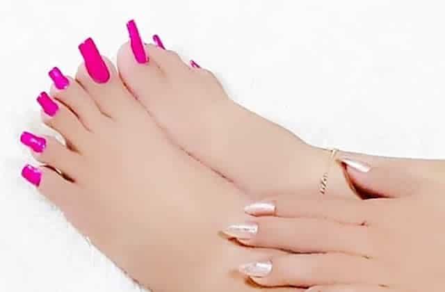 faux ongles de doigts de pieds