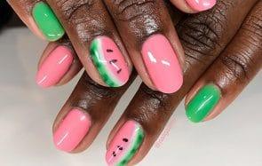 tendance ongles pastèque