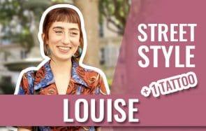 Louise, sa veste en jean DYI de toute beauté et son tattoo