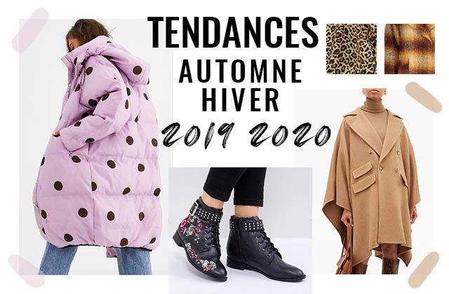 Les tendances mode de l'automne/hiver 2019-2020