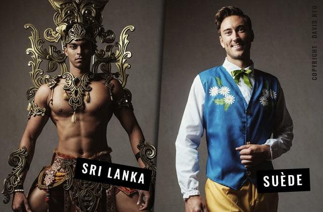 38 hommes représentent leurs pays dans un incroyable défilé