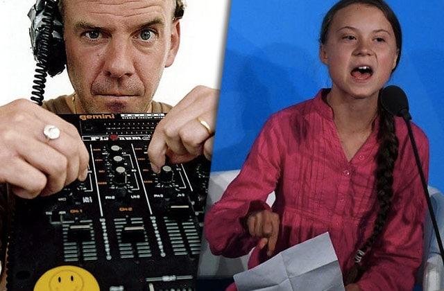 Fatboy Slim sample Greta Thunberg:il faut agir « right here, right now»