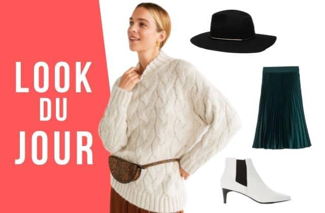 Look du jour : une tenue d'automne avec une jupe plissée