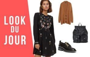 Look du jour : une petite robe brodée pour l'automne !