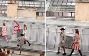 Marie S'Infiltre s'incruste sur le défilé Chanel