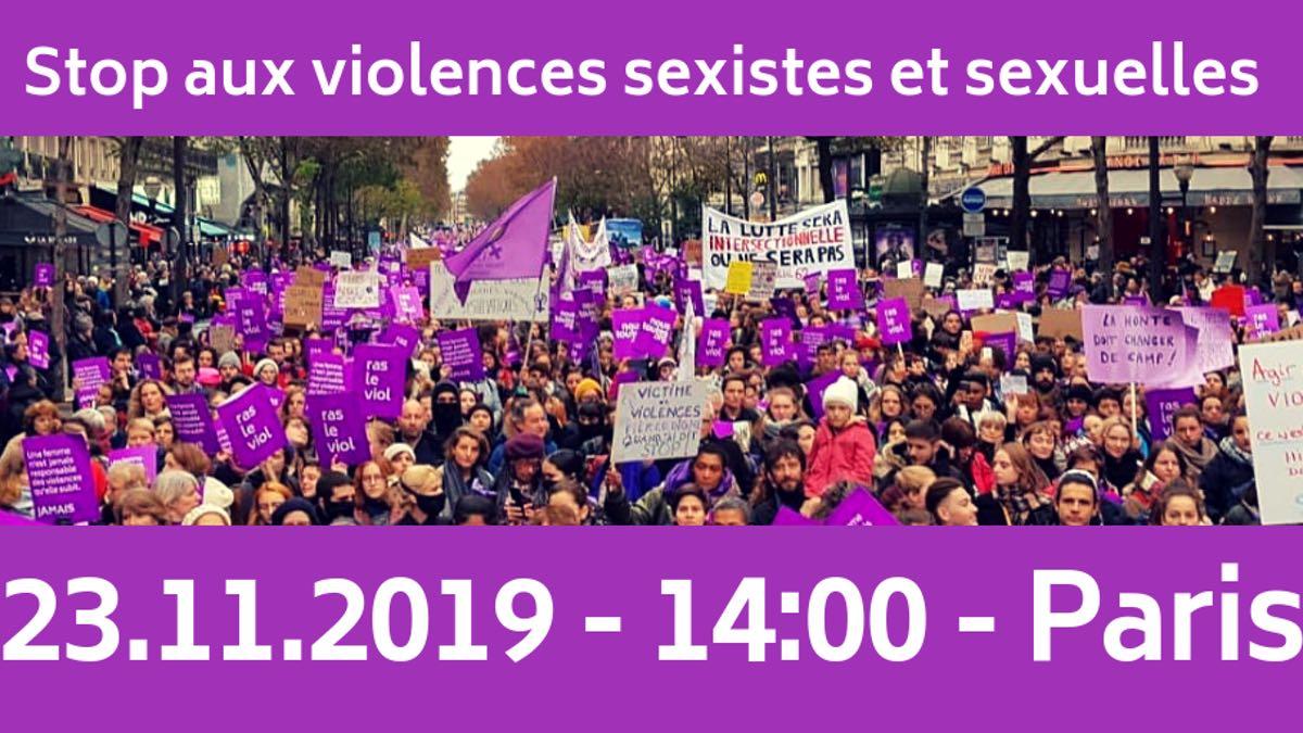 Viens marcher contre les violences faites aux femmes ce samedi 23 novembre !