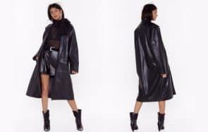 Le manteau long en cuir est tendance en 2020