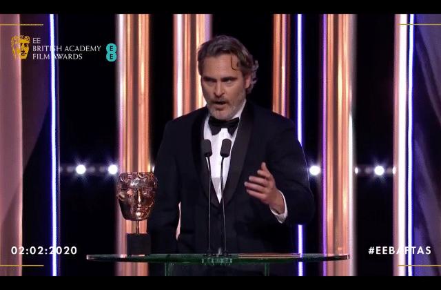 Le puissant discours anti-raciste de Joaquin Phoenix aux BAFTA