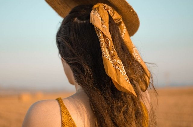 foulard cheveux tendances