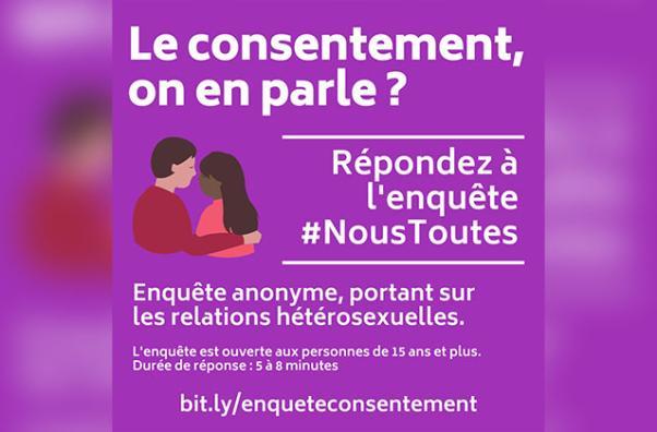 Viens répondre à l'enquête de #NousToutes sur le consentement !