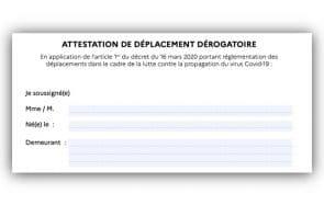 L'attestation de déplacement dérogatoire est disponible sur smartphone !