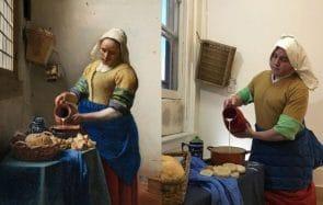 Des confinés reproduisent des tableaux célèbres avec les moyens du bord