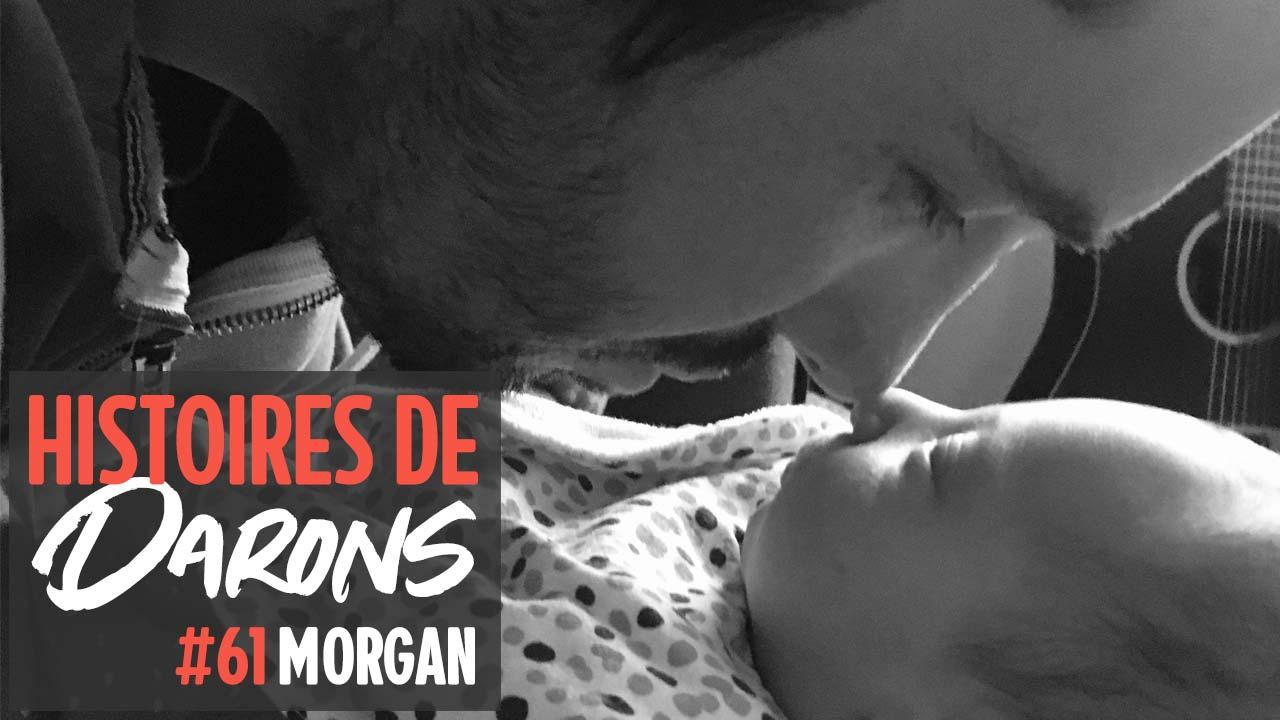Comment Morgan allie paternité et handicap visuel ?