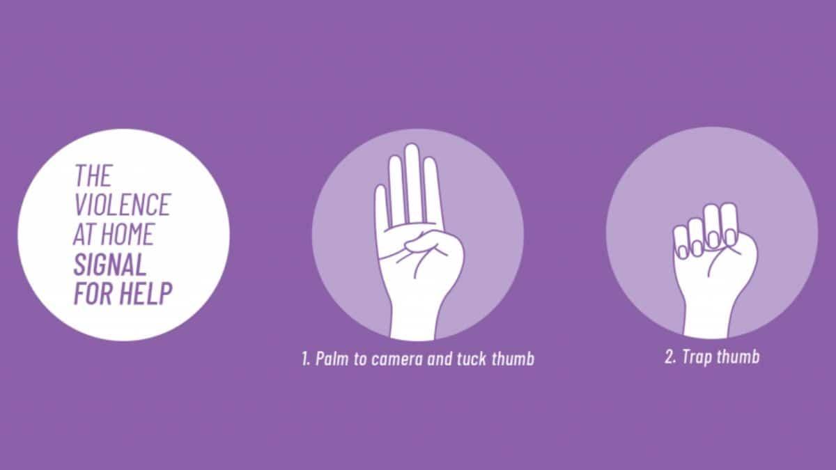 Ce signal discret sert à demander de l'aide en cas de violences conjugales
