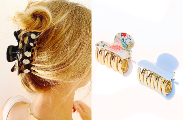 Les pinces à cheveux crabes 90's reviennent, une tendance parfaite pour l'été