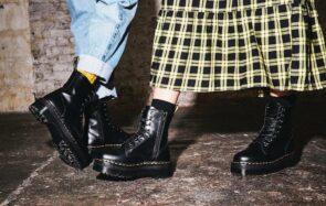 Les boots à plateforme Jadon de Dr Martens