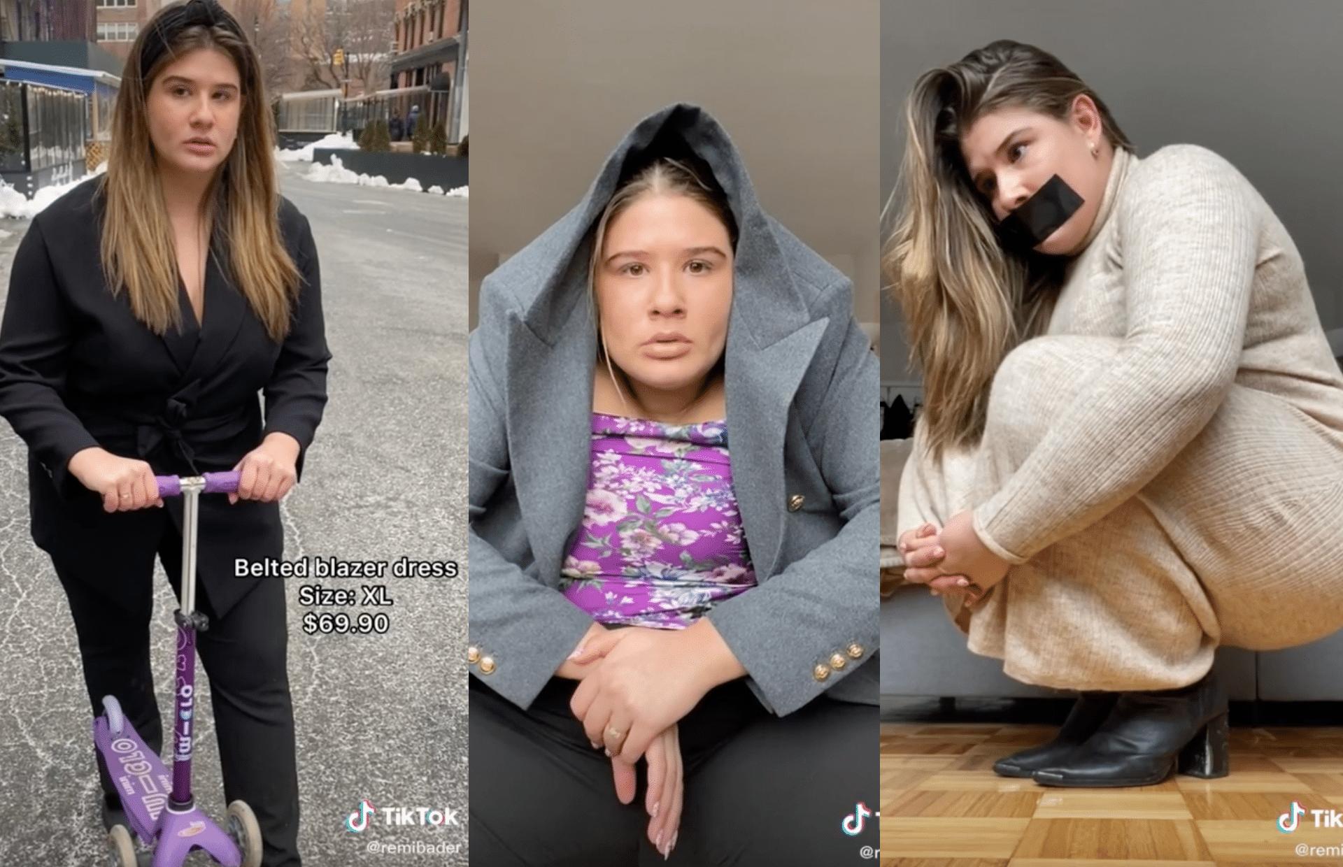 Sur TikTok, Remi Bader fait des hauls parodiques hilarants sur la mode