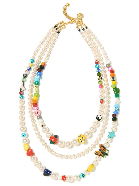 Collier en perles de verre et de céramique, Venessa Arizaga, 287€.
