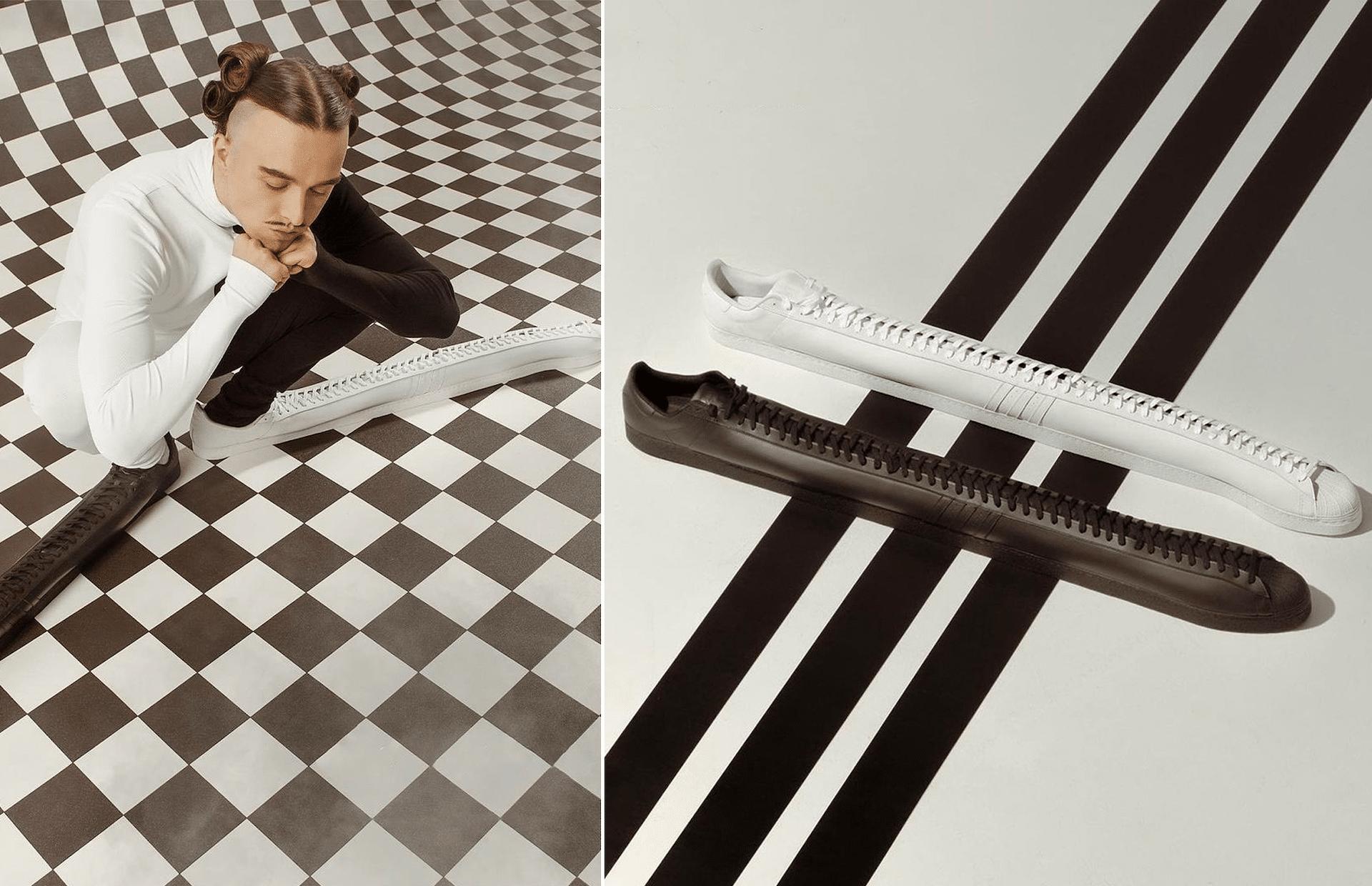 Les baskets XXLongues de la collab entre Adidas et le rappeur estonien Tommy Cash