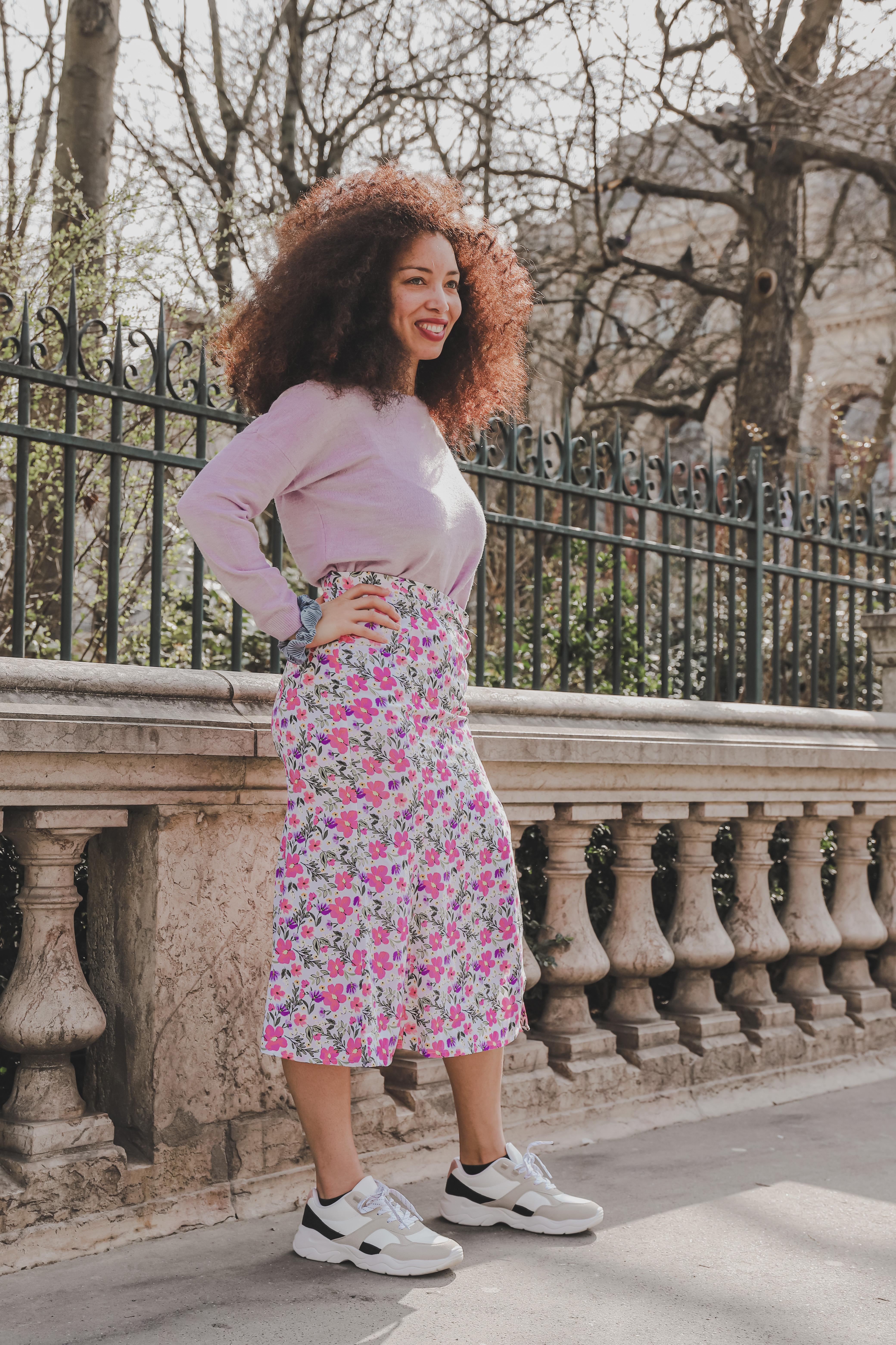 Sophie, rédactrice Madmoizelle, habillée avec la nouvelle collection Kiabi
